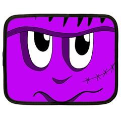 Halloween - purple Frankenstein Netbook Case (Large)