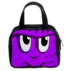 Halloween - purple Frankenstein Classic Handbags (2 Sides)