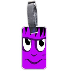 Halloween - purple Frankenstein Luggage Tags (Two Sides)