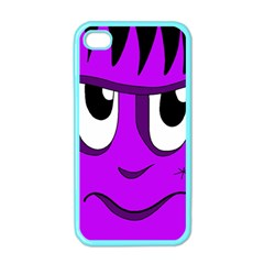 Halloween - purple Frankenstein Apple iPhone 4 Case (Color)