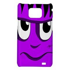 Halloween - purple Frankenstein Samsung Galaxy S2 i9100 Hardshell Case