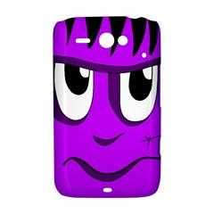 Halloween - purple Frankenstein HTC ChaCha / HTC Status Hardshell Case