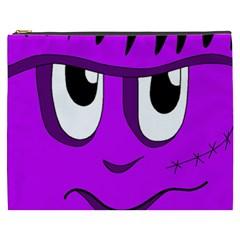 Halloween - purple Frankenstein Cosmetic Bag (XXXL)