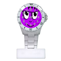 Halloween - purple Frankenstein Plastic Nurses Watch