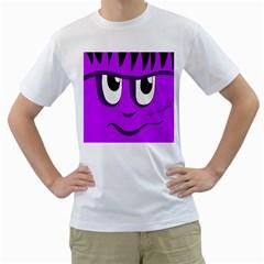 Halloween - purple Frankenstein Men s T-Shirt (White)