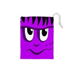 Halloween - purple Frankenstein Drawstring Pouches (Small)