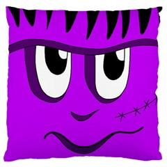 Halloween - purple Frankenstein Standard Flano Cushion Case (Two Sides)
