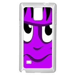 Halloween - purple Frankenstein Samsung Galaxy Note 4 Case (White)