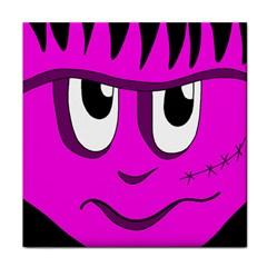 Halloween - pink Frankenstein Tile Coasters