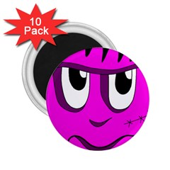 Halloween - pink Frankenstein 2.25  Magnets (10 pack)