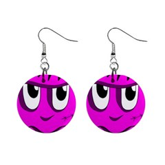 Halloween - pink Frankenstein Mini Button Earrings