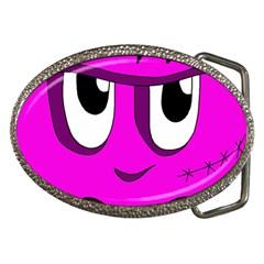 Halloween - pink Frankenstein Belt Buckles