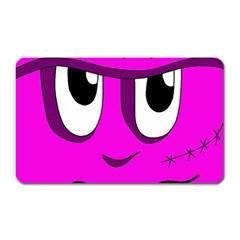 Halloween - pink Frankenstein Magnet (Rectangular)