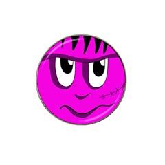 Halloween - pink Frankenstein Hat Clip Ball Marker (10 pack)