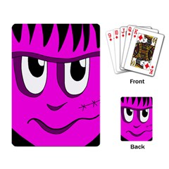 Halloween - pink Frankenstein Playing Card