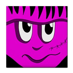 Halloween - pink Frankenstein Face Towel