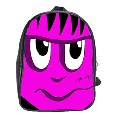 Halloween - pink Frankenstein School Bags(Large)