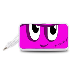 Halloween - pink Frankenstein Portable Speaker (White)