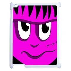 Halloween - pink Frankenstein Apple iPad 2 Case (White)