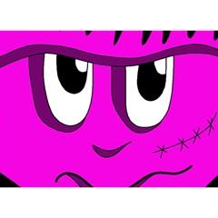 Halloween - pink Frankenstein Birthday Cake 3D Greeting Card (7x5)