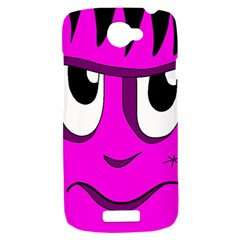 Halloween - pink Frankenstein HTC One S Hardshell Case