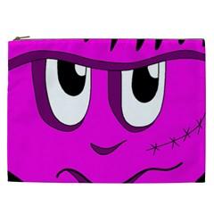 Halloween - pink Frankenstein Cosmetic Bag (XXL)