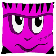 Halloween - pink Frankenstein Large Flano Cushion Case (Two Sides)