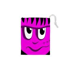 Halloween - pink Frankenstein Drawstring Pouches (XS)