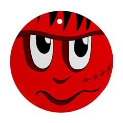 Halloween Frankenstein - red Ornament (Round)