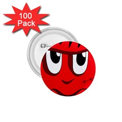 Halloween Frankenstein - red 1.75  Buttons (100 pack)