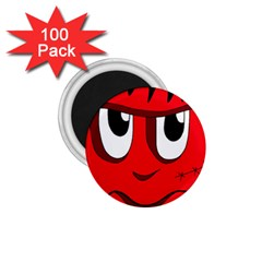 Halloween Frankenstein - red 1.75  Magnets (100 pack)