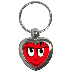 Halloween Frankenstein - red Key Chains (Heart)