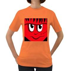 Halloween Frankenstein - red Women s Dark T-Shirt