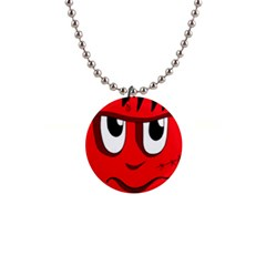Halloween Frankenstein - red Button Necklaces