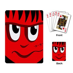 Halloween Frankenstein - red Playing Card