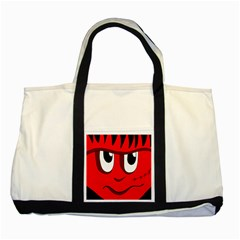 Halloween Frankenstein - red Two Tone Tote Bag