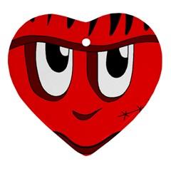 Halloween Frankenstein - red Heart Ornament (2 Sides)