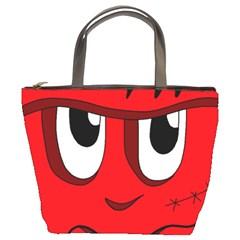 Halloween Frankenstein - red Bucket Bags