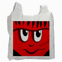 Halloween Frankenstein - red Recycle Bag (Two Side)