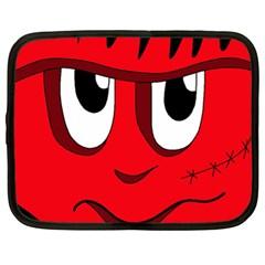 Halloween Frankenstein - red Netbook Case (XL)