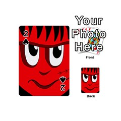 Halloween Frankenstein - red Playing Cards 54 (Mini)