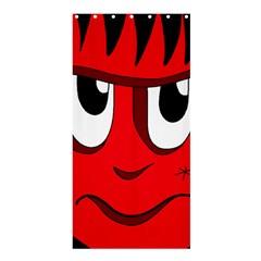 Halloween Frankenstein - red Shower Curtain 36  x 72  (Stall)