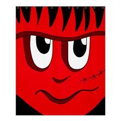 Halloween Frankenstein - red Shower Curtain 60  x 72  (Medium)