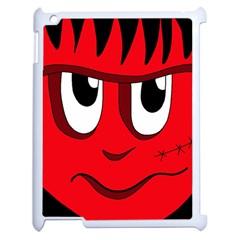 Halloween Frankenstein - red Apple iPad 2 Case (White)