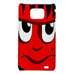 Halloween Frankenstein - red Samsung Galaxy S2 i9100 Hardshell Case