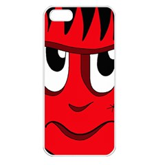 Halloween Frankenstein - red Apple iPhone 5 Seamless Case (White)
