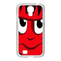Halloween Frankenstein - red Samsung GALAXY S4 I9500/ I9505 Case (White)