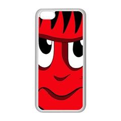 Halloween Frankenstein - red Apple iPhone 5C Seamless Case (White)
