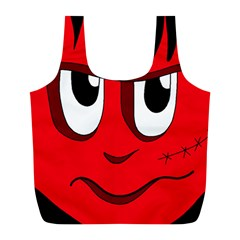 Halloween Frankenstein - red Full Print Recycle Bags (L)