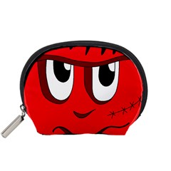 Halloween Frankenstein - red Accessory Pouches (Small)